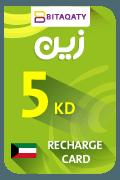 Zain Mobile Recharge Card - KWD 5