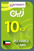 Zain Mobile Recharge Card - KWD 10