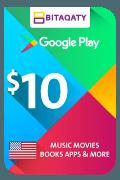 Google Play Gift Card - USD 10