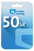 Mobily Recharge Card - SAR 50