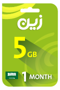 Zain Internet Recharge Card - 5 GB for 1 Month