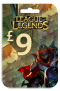 League of Legends Riot Points Card - GBP 9