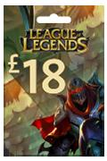 League of Legends Riot Points Card - GBP 18