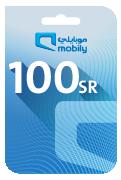 Mobily Recharge Card - SAR 100