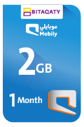 Mobily Data Recharge Card - 2 GB for 1 Month