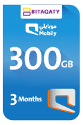 Mobily Data Recharge Card - 300 GB for 3 Month