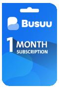 Busuu Subscription Card - 1 Month