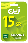 Zain Mobile Recharge Card - SAR 15