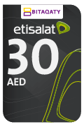 Etisalat Mobile Recharge Card - AED30