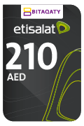 Etisalat Mobile Recharge Card - AED210