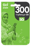 Zain Internet Recharge Card - 300 GB for 3 Month