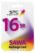 Sawa Recharge Card - SAR 16