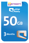 Mobily Data Recharge Card - 50 GB for 3 Month