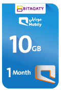 Mobily Data Recharge Card - 10 GB for 1 Month