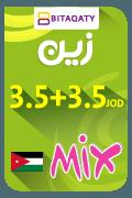 Zain Mix Recharge Card - JOD 3.5 + 3.5