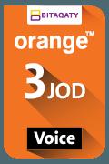 Orange Voice Recharge Card - JOD 3