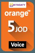 Orange Voice Recharge Card - JOD 5