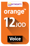 Orange Voice Recharge Card - JOD 12