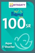 بطاقة شحن فرندي أكوا - 100 ريال سعودي