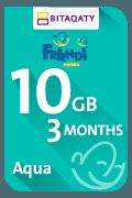بطاقة شحن فرندي أكوا للبيانات - 10 جيجا لمدة 3 أشهر