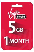 بطاقه فيرجن لشحن الانترنت - 5 جيجا لمدة شهر واحد