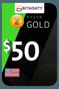 Razer Gold Gift Card - USD 50