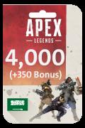 Apex Legends Coins Card - 4,000 Coins + 350 Bonus