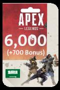 Apex Legends Coins Card - 6,000 Coins + 700 Bonus