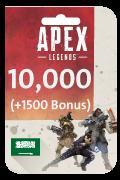بطاقة كوينز آبيكس ليجيندز - 10,000 كوينز + 1,500 مجانا
