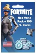 PS4 Fortnite - Neo Versa Pack + 500 V-Bucks
