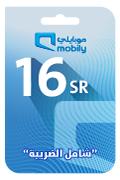 Mobily Recharge Card - SAR 16