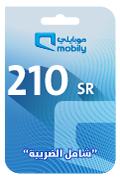 Mobily Recharge Card - SAR 210