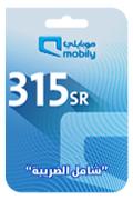 بطاقة شحن موبايلي - 315 ريال سعودي