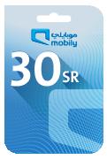 Mobily Recharge Card - SAR 30